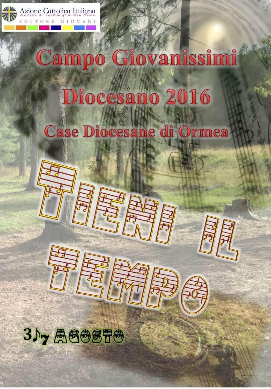 Tieni il Tempo! – Campo Giovanissimi 2016