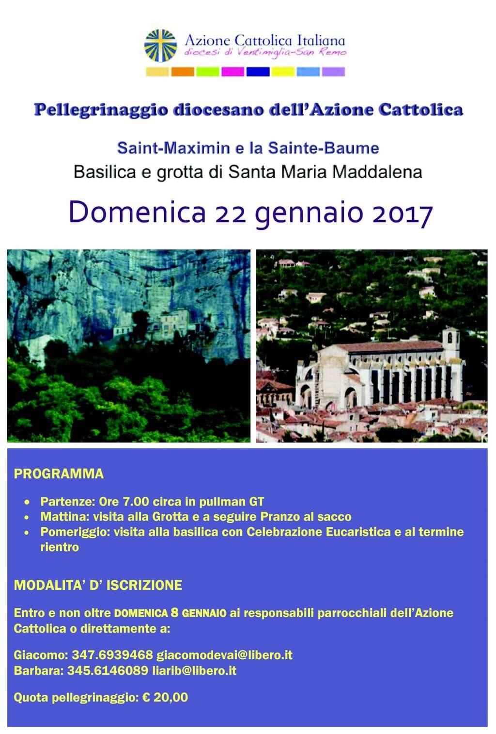 Pellegrinaggio unitario 22 gennaio 2017 azione for Garage santamaria saint maximin